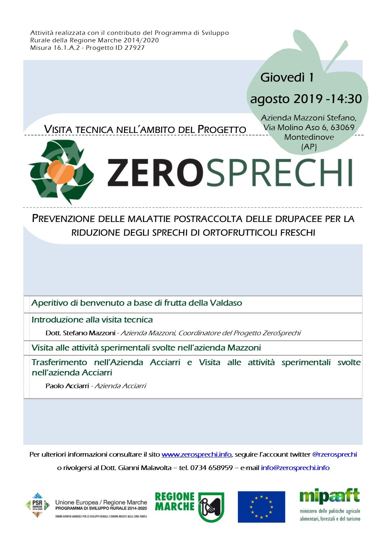 Technical visit Thursday 1st August,2019